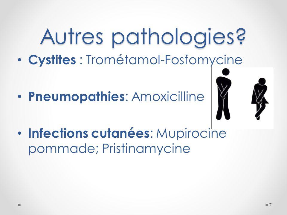 Autres pathologies Cystites : Trométamol-Fosfomycine