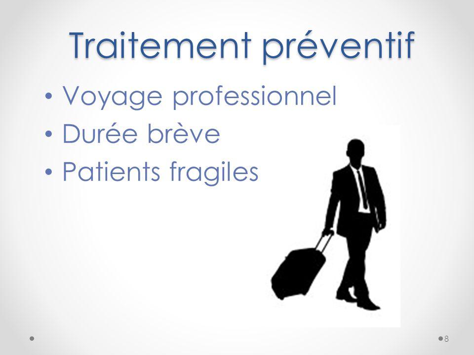 Traitement préventif Voyage professionnel Durée brève