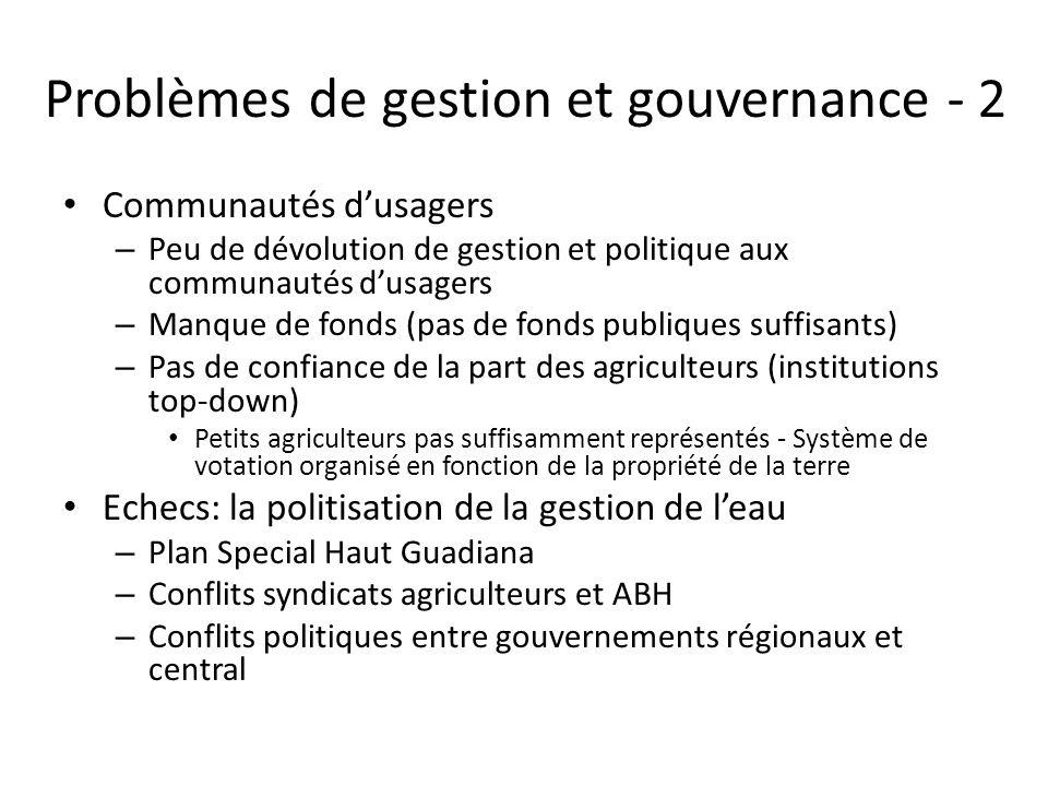 Problèmes de gestion et gouvernance - 2