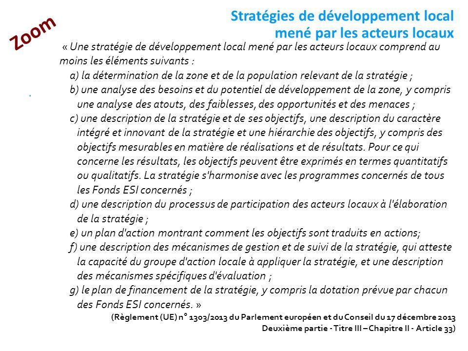Stratégies de développement local mené par les acteurs locaux
