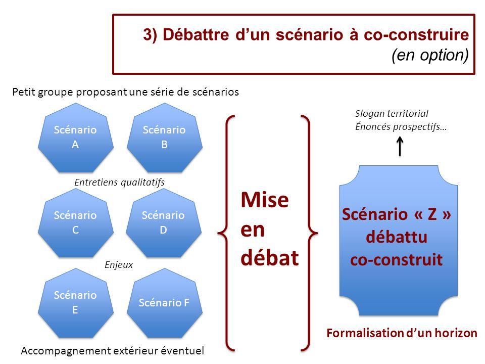 3) Débattre d'un scénario à co-construire (en option)