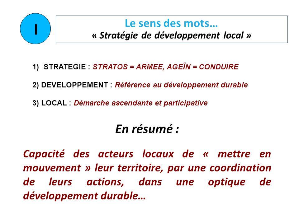 Le sens des mots… « Stratégie de développement local »