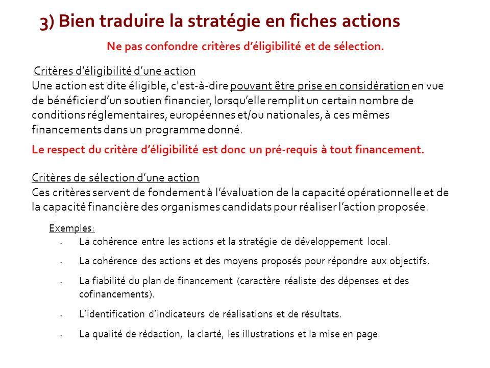 3) Bien traduire la stratégie en fiches actions