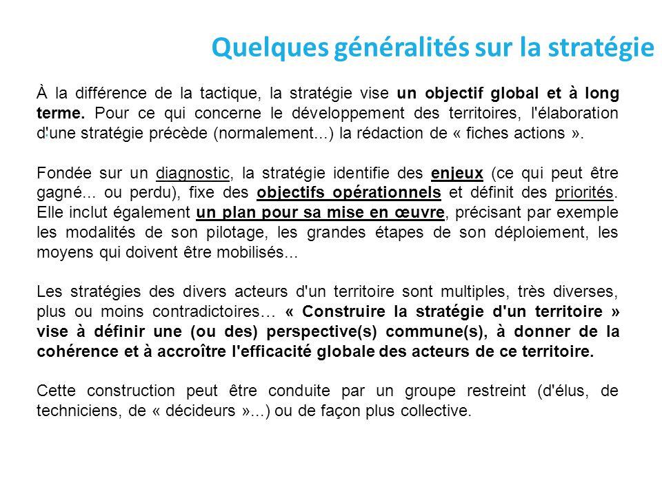 Quelques généralités sur la stratégie