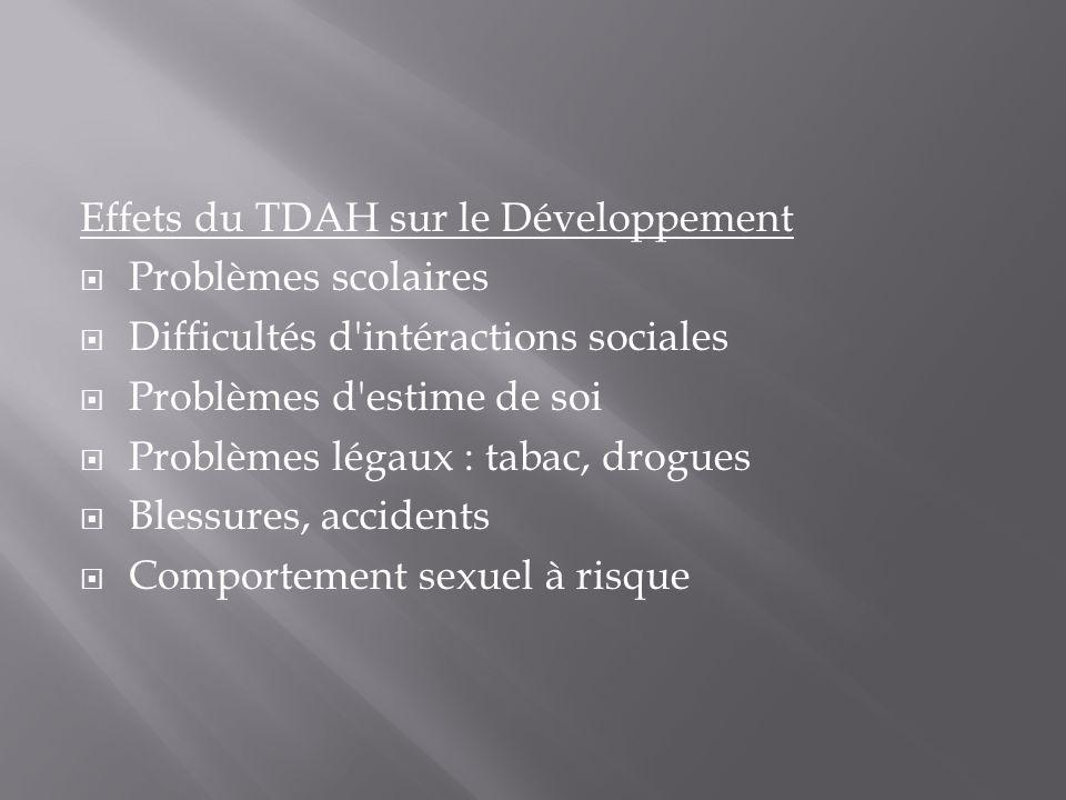 Effets du TDAH sur le Développement