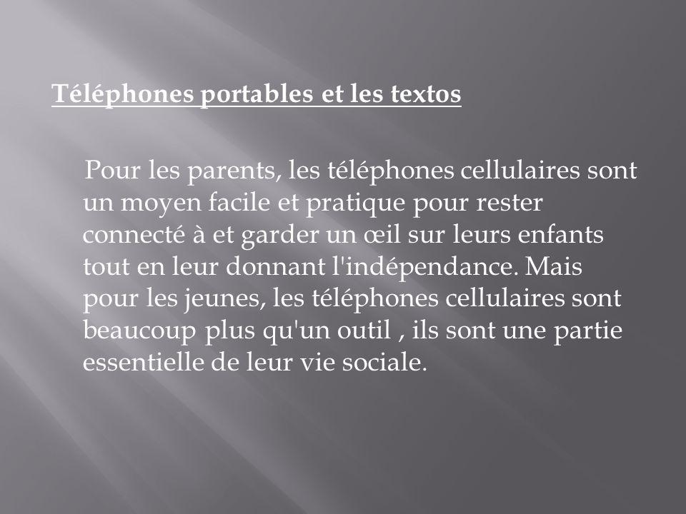 Téléphones portables et les textos