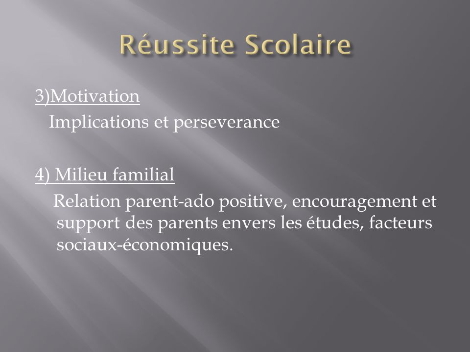 Réussite Scolaire