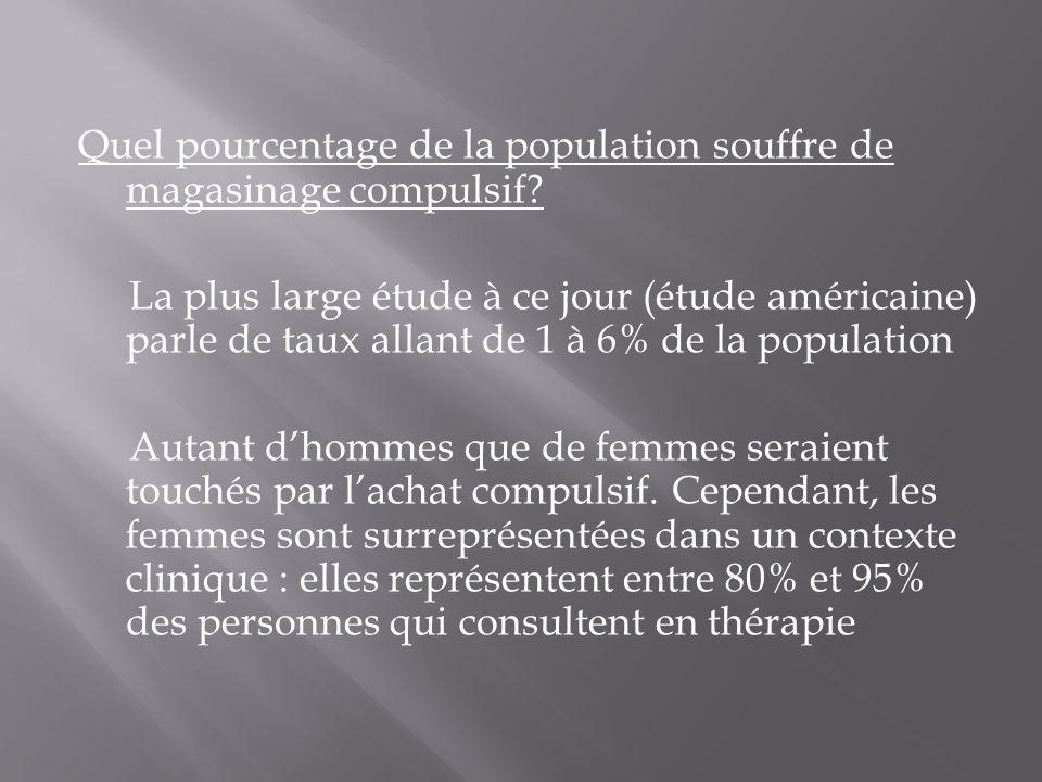 Quel pourcentage de la population souffre de magasinage compulsif