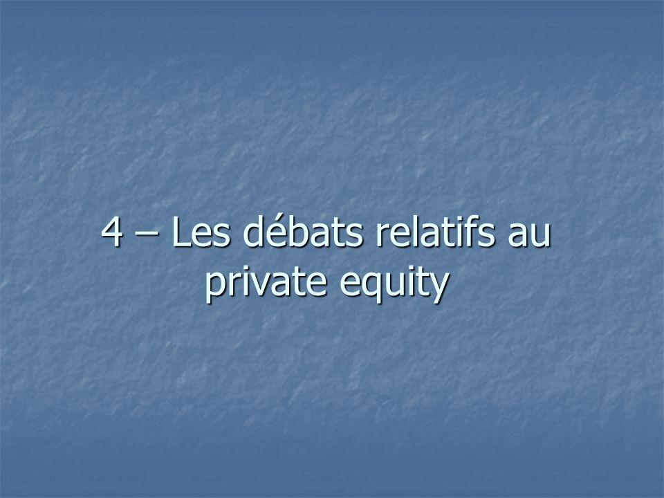 4 – Les débats relatifs au private equity