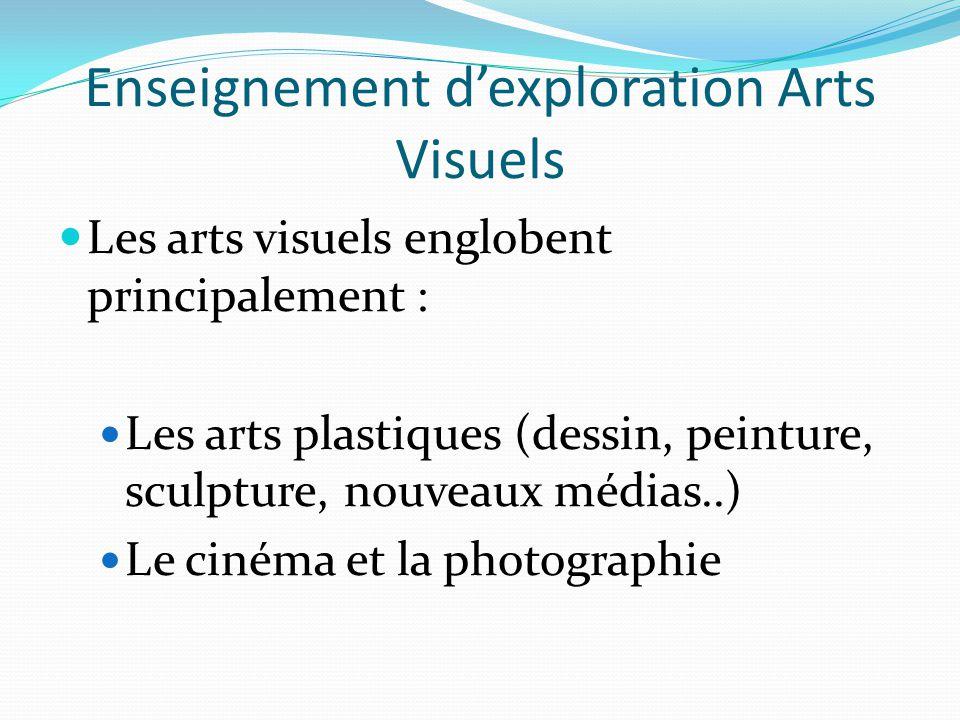 Enseignement d'exploration Arts Visuels