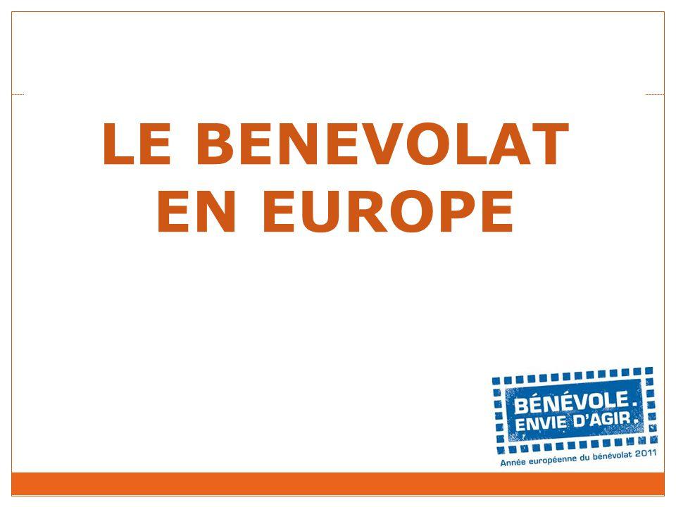LE BENEVOLAT EN EUROPE