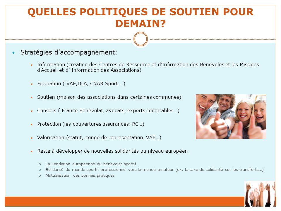QUELLES POLITIQUES DE SOUTIEN POUR DEMAIN