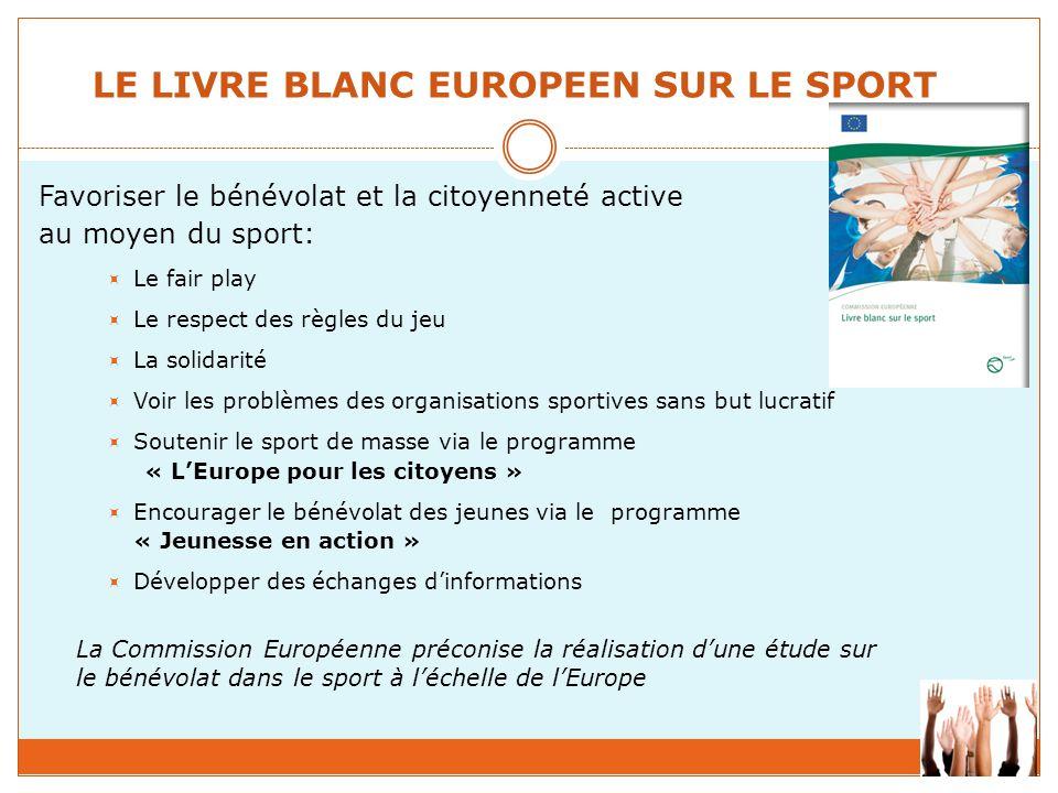 LE LIVRE BLANC EUROPEEN SUR LE SPORT