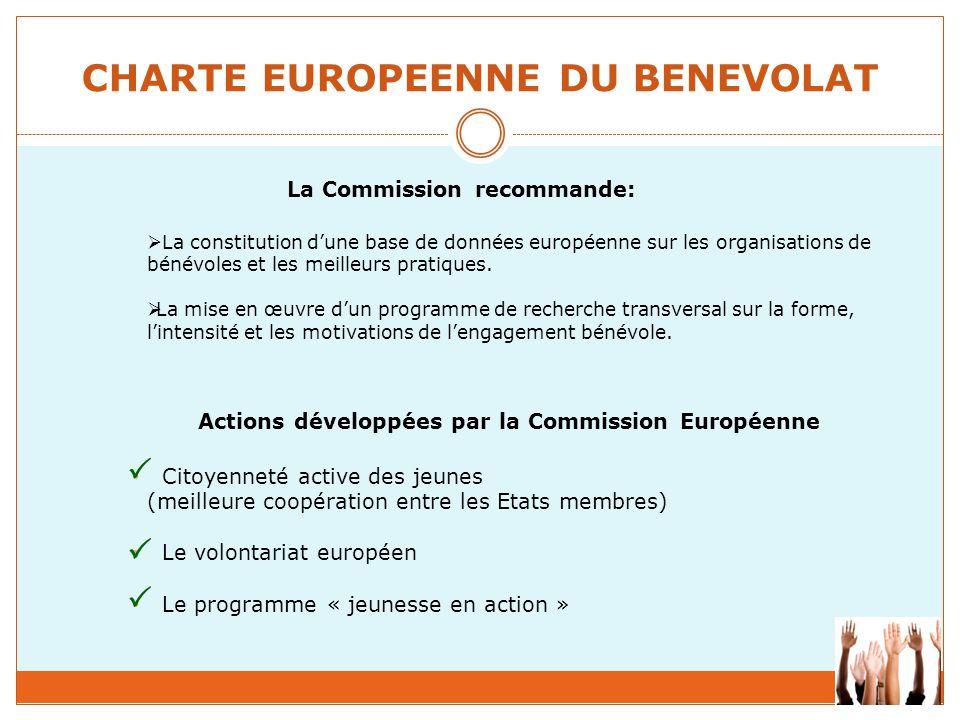 CHARTE EUROPEENNE DU BENEVOLAT