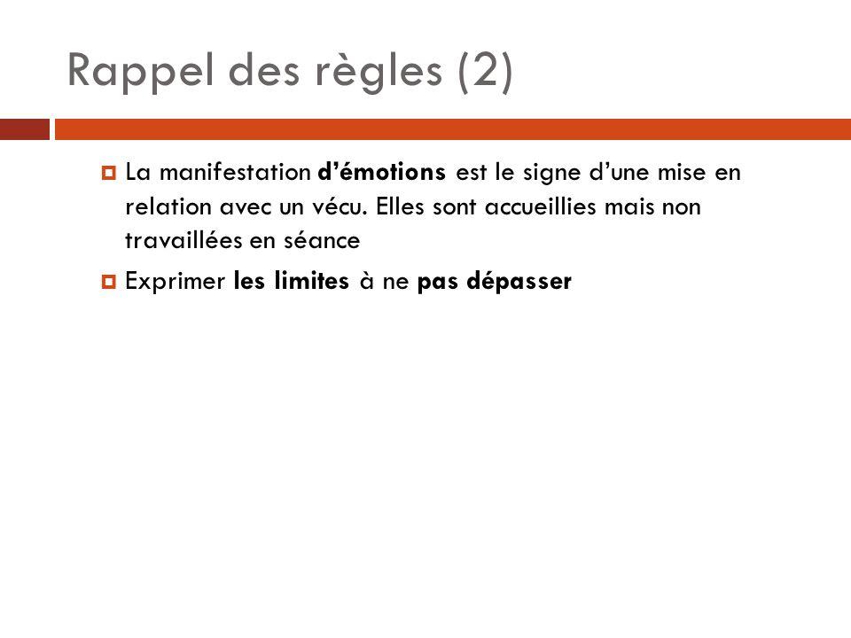 Rappel des règles (2)