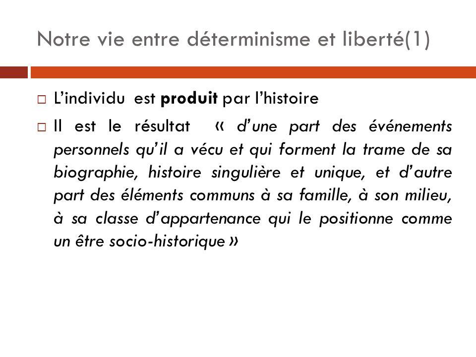 Notre vie entre déterminisme et liberté(1)