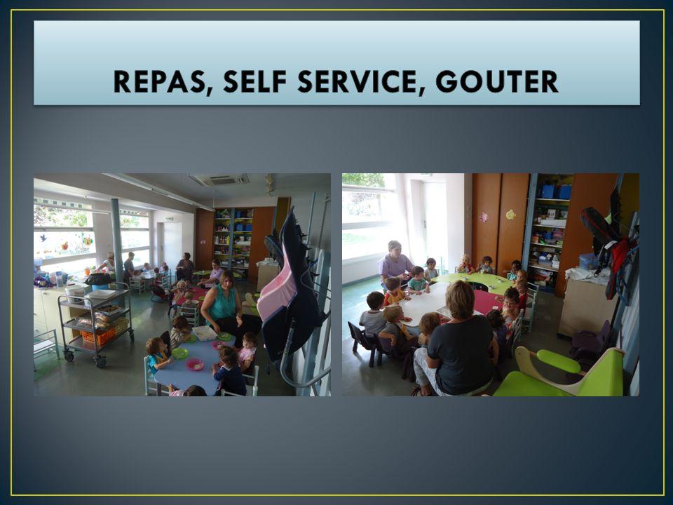 REPAS, SELF SERVICE, GOUTER