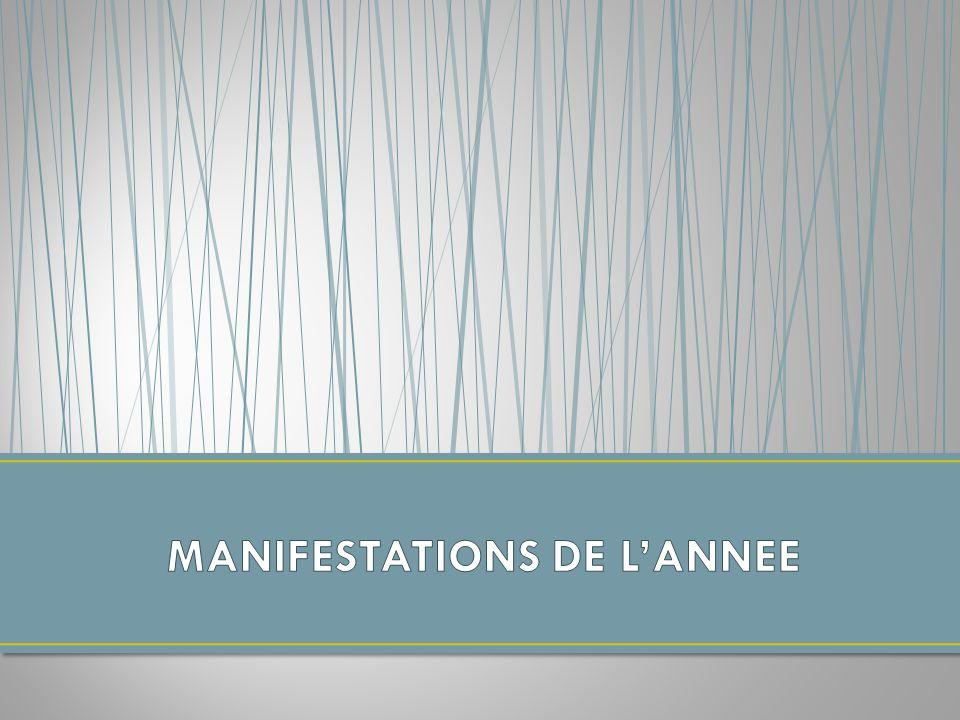 MANIFESTATIONS DE L'ANNEE