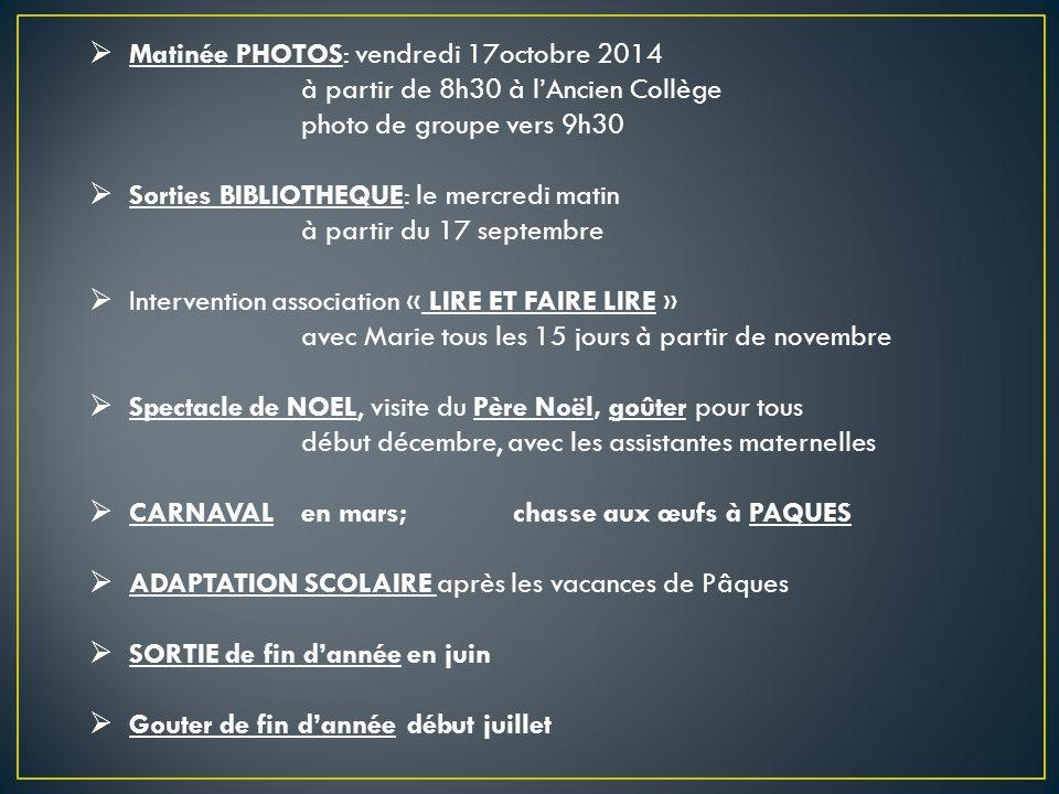 Matinée PHOTOS: vendredi 17octobre 2014