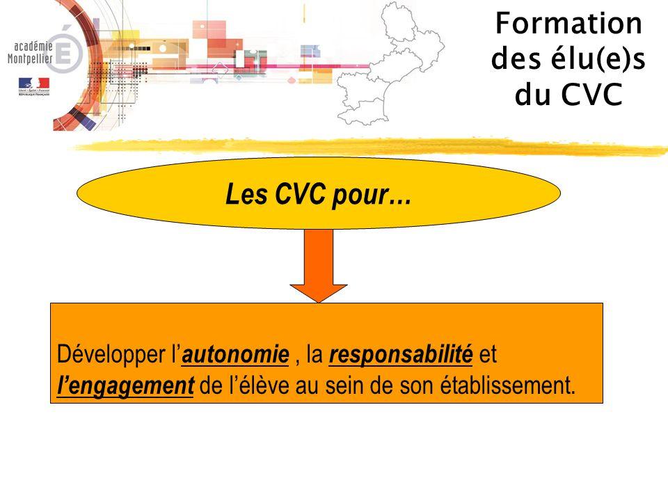 Formation des élu(e)s du CVC