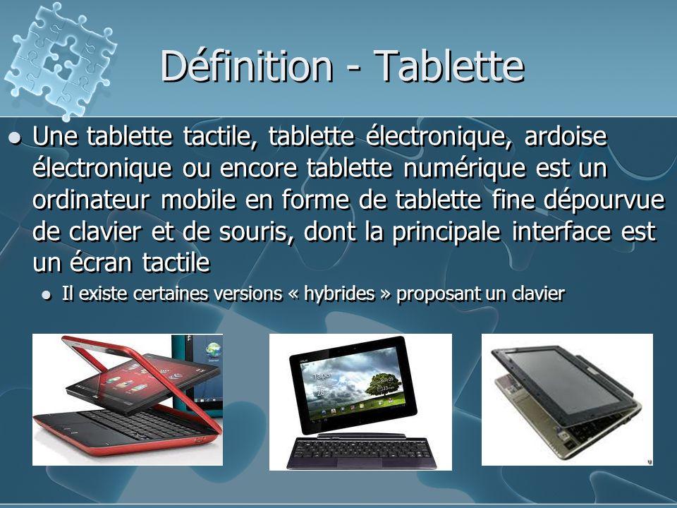 Définition - Tablette