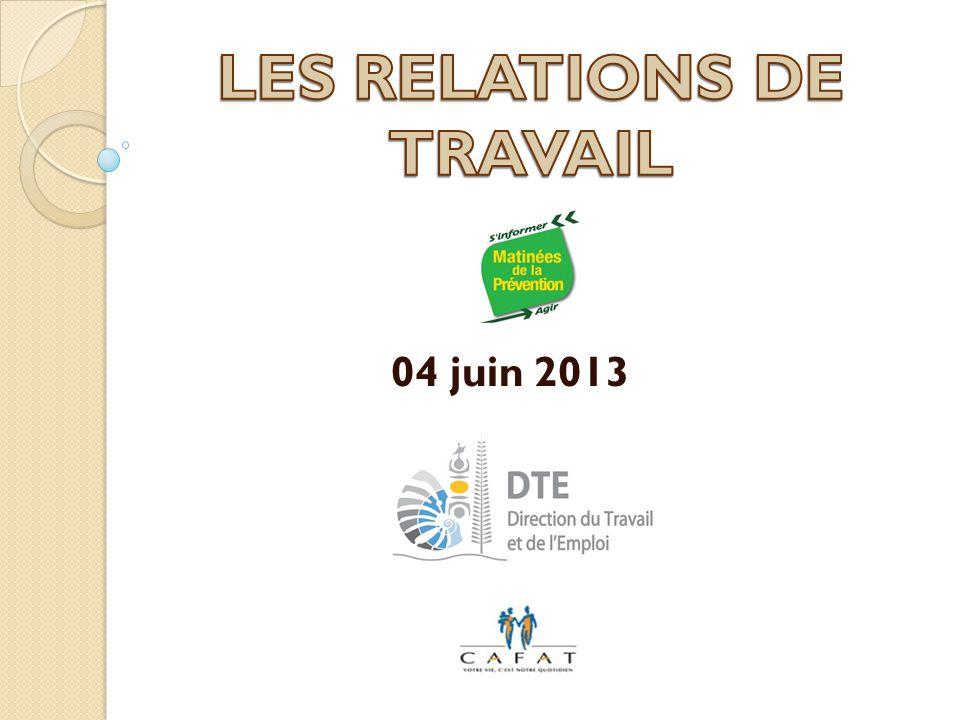 LES RELATIONS DE TRAVAIL