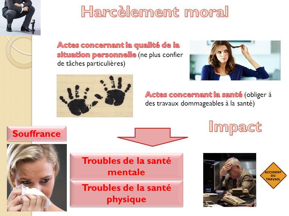 Troubles de la santé mentale Troubles de la santé physique