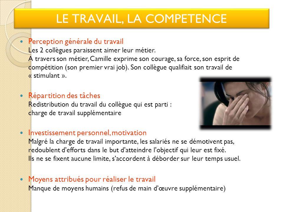 LE TRAVAIL, LA COMPETENCE