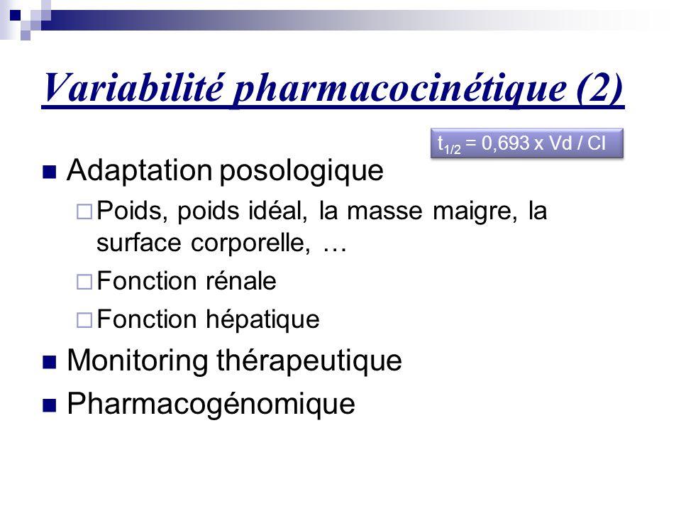 Variabilité pharmacocinétique (2)