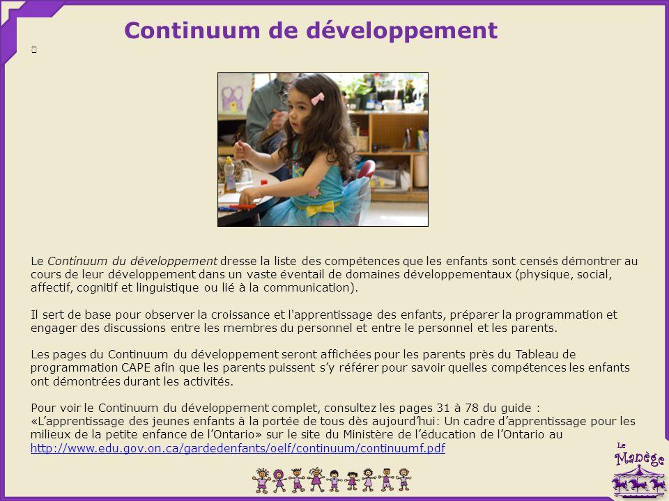 Continuum de développement