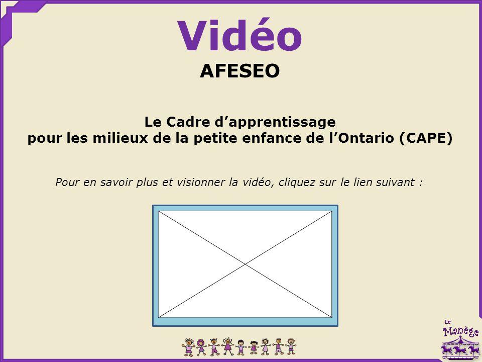 Vidéo AFESEO Le Cadre d'apprentissage