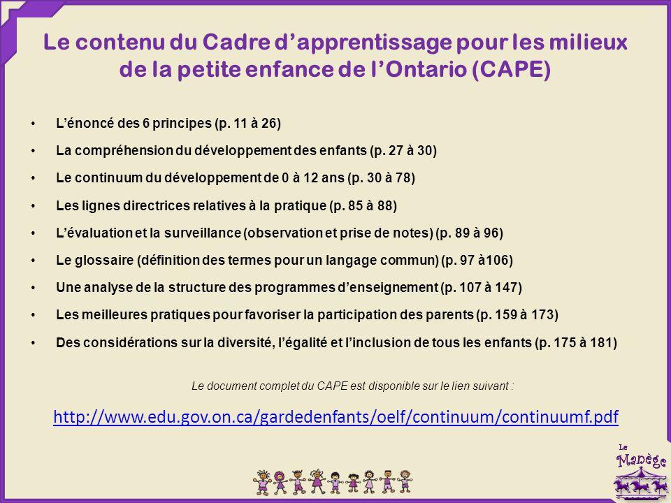 Le document complet du CAPE est disponible sur le lien suivant :