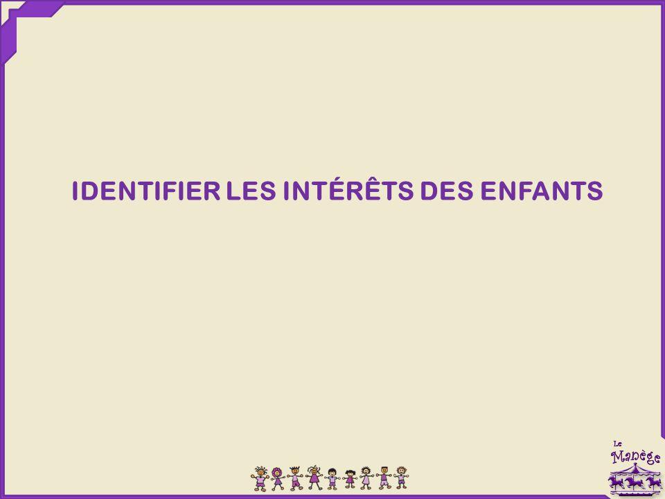 IDENTIFIER LES INTÉRÊTS DES ENFANTS
