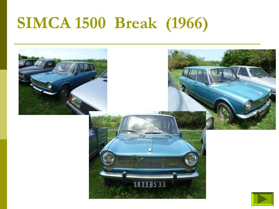 SIMCA 1500 Break (1966)