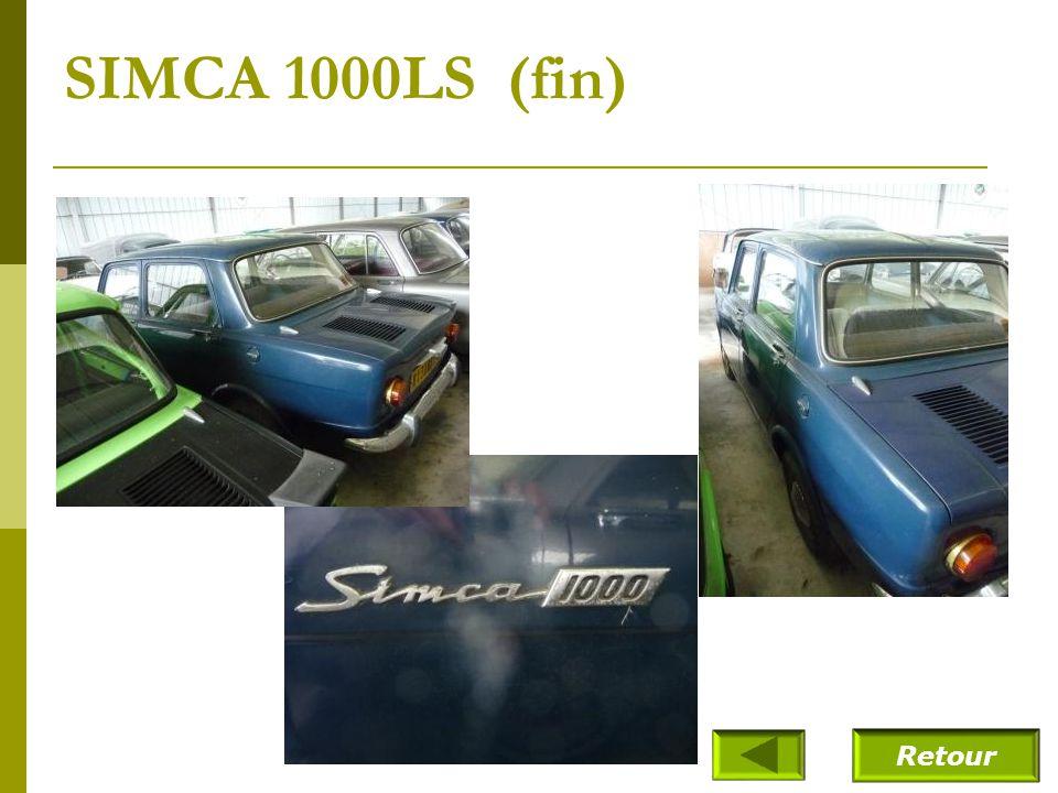 SIMCA 1000LS (fin) Retour