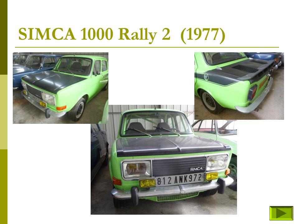 SIMCA 1000 Rally 2 (1977)