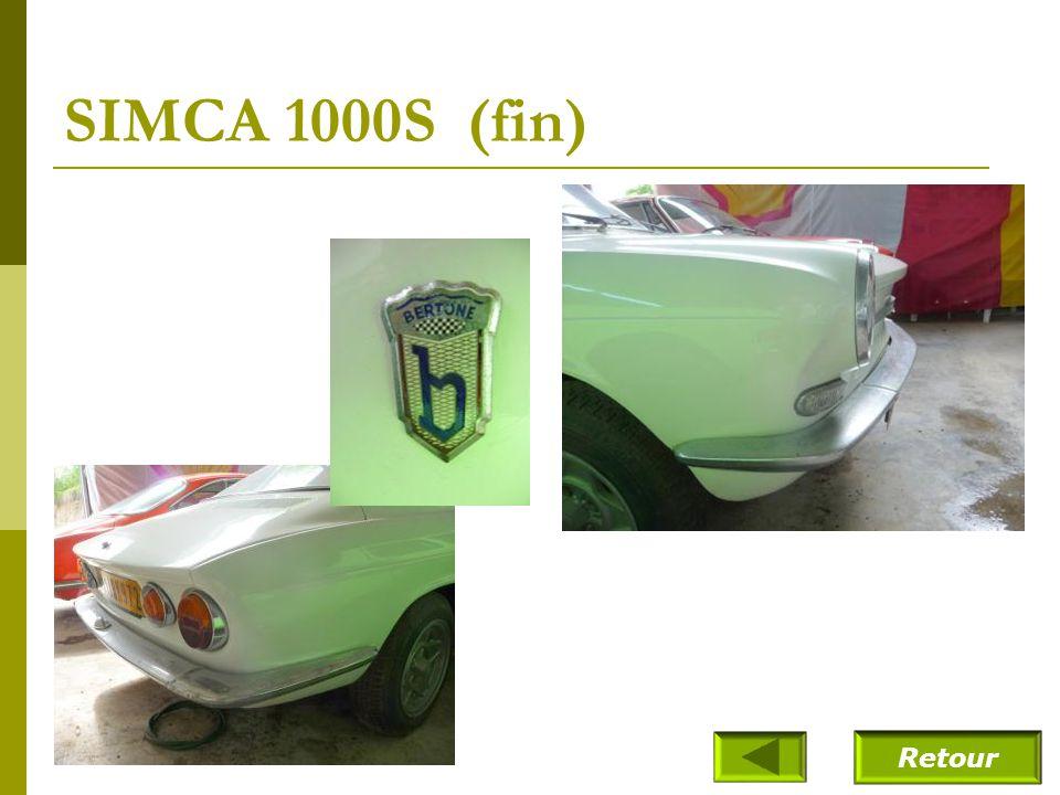 SIMCA 1000S (fin) Retour