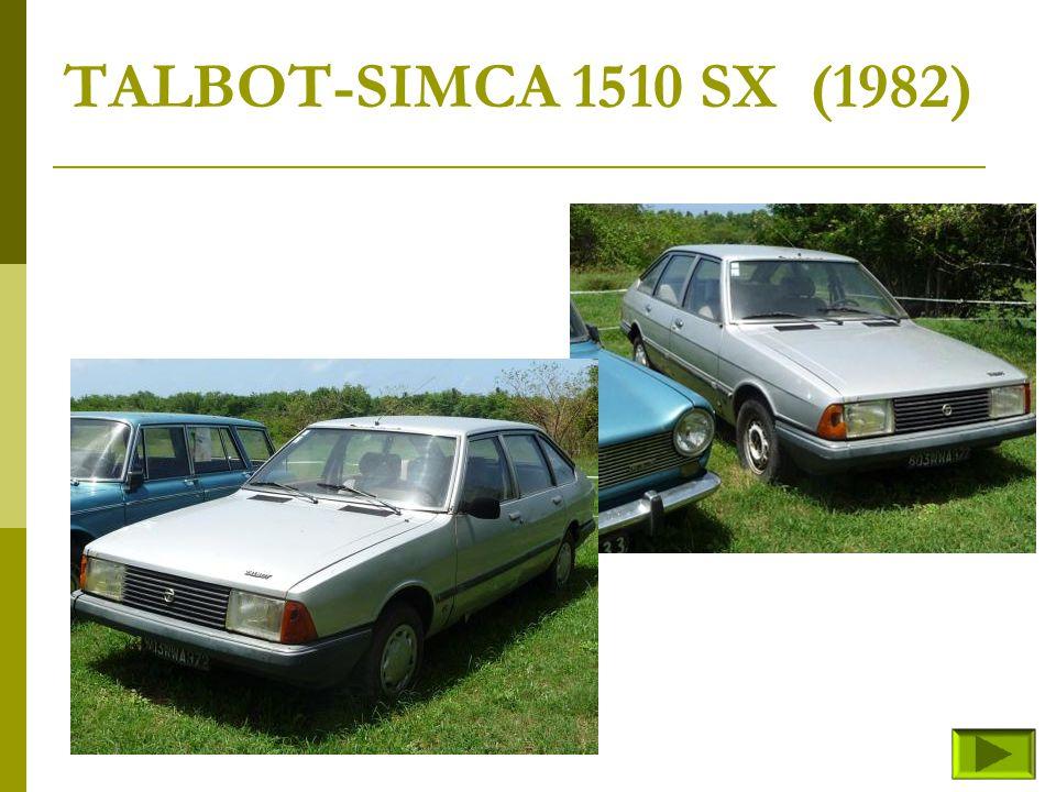 TALBOT-SIMCA 1510 SX (1982)