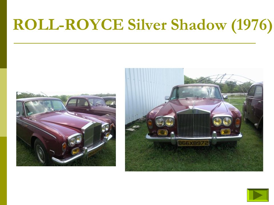 ROLL-ROYCE Silver Shadow (1976)