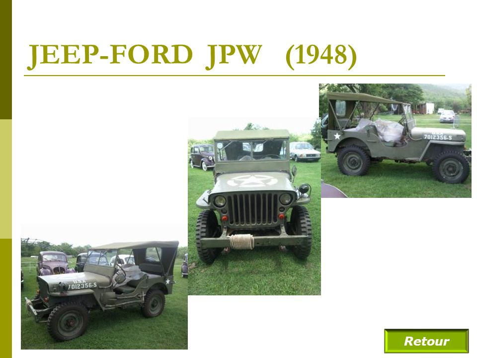 JEEP-FORD JPW (1948) Retour