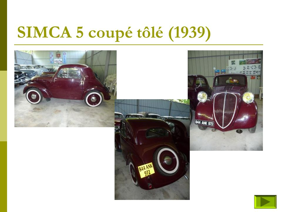 SIMCA 5 coupé tôlé (1939)