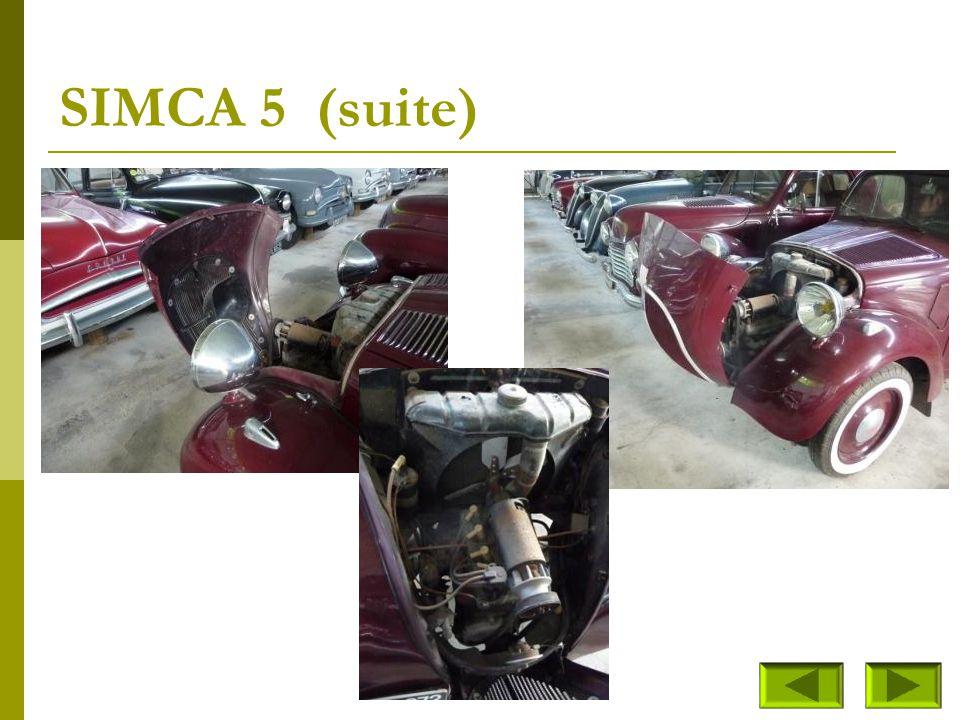 SIMCA 5 (suite)
