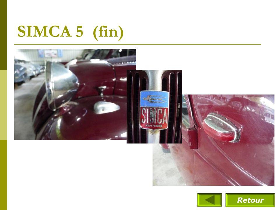 SIMCA 5 (fin) Retour