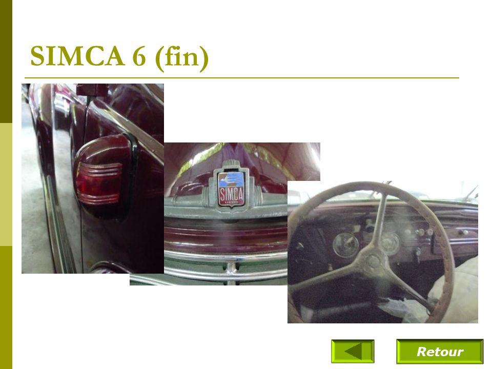SIMCA 6 (fin) Retour