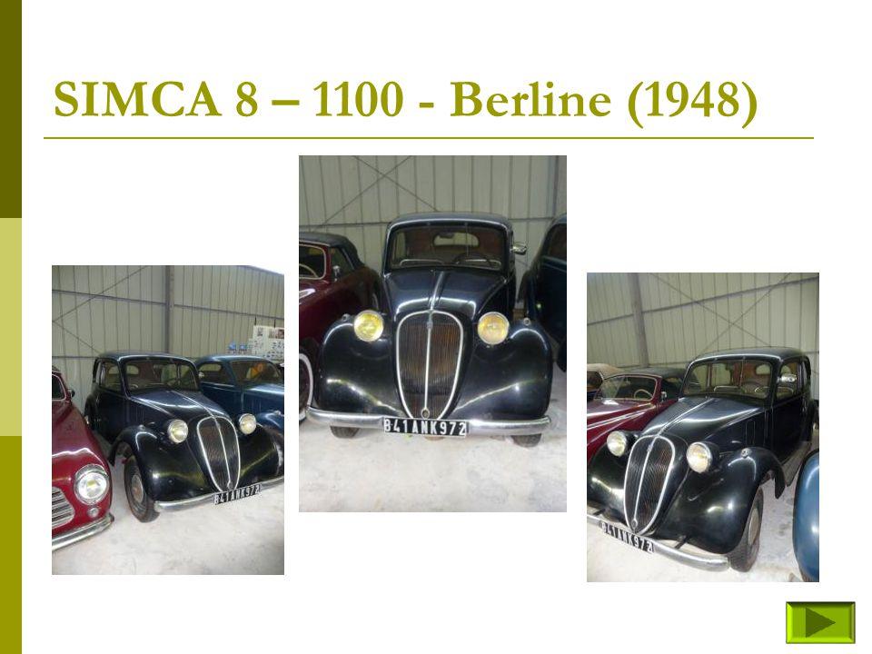 SIMCA 8 – 1100 - Berline (1948)