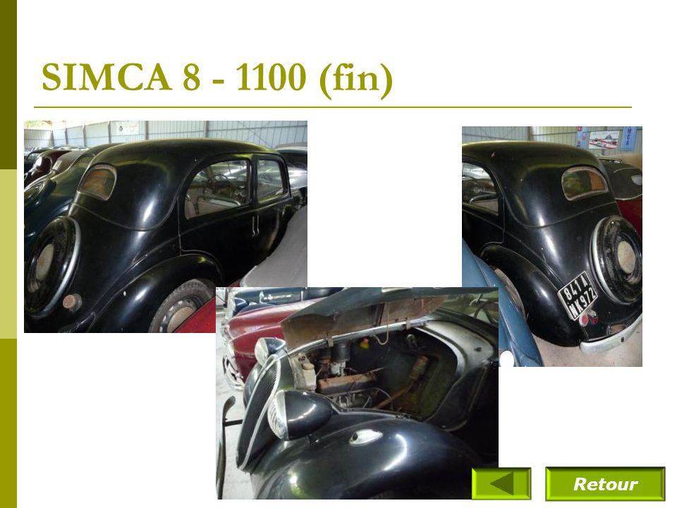 SIMCA 8 - 1100 (fin) Retour