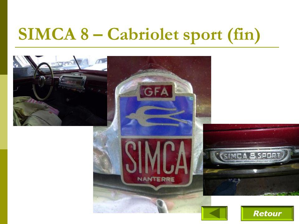 SIMCA 8 – Cabriolet sport (fin)
