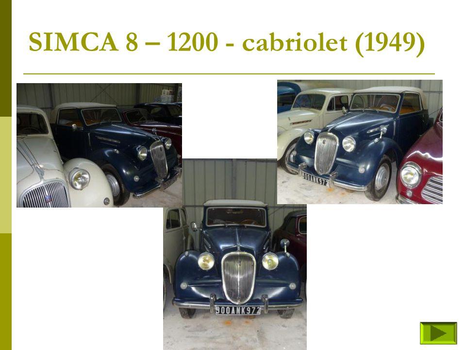 SIMCA 8 – 1200 - cabriolet (1949)