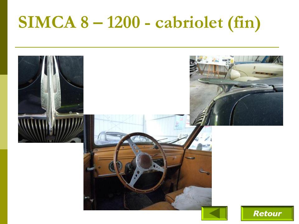 SIMCA 8 – 1200 - cabriolet (fin)