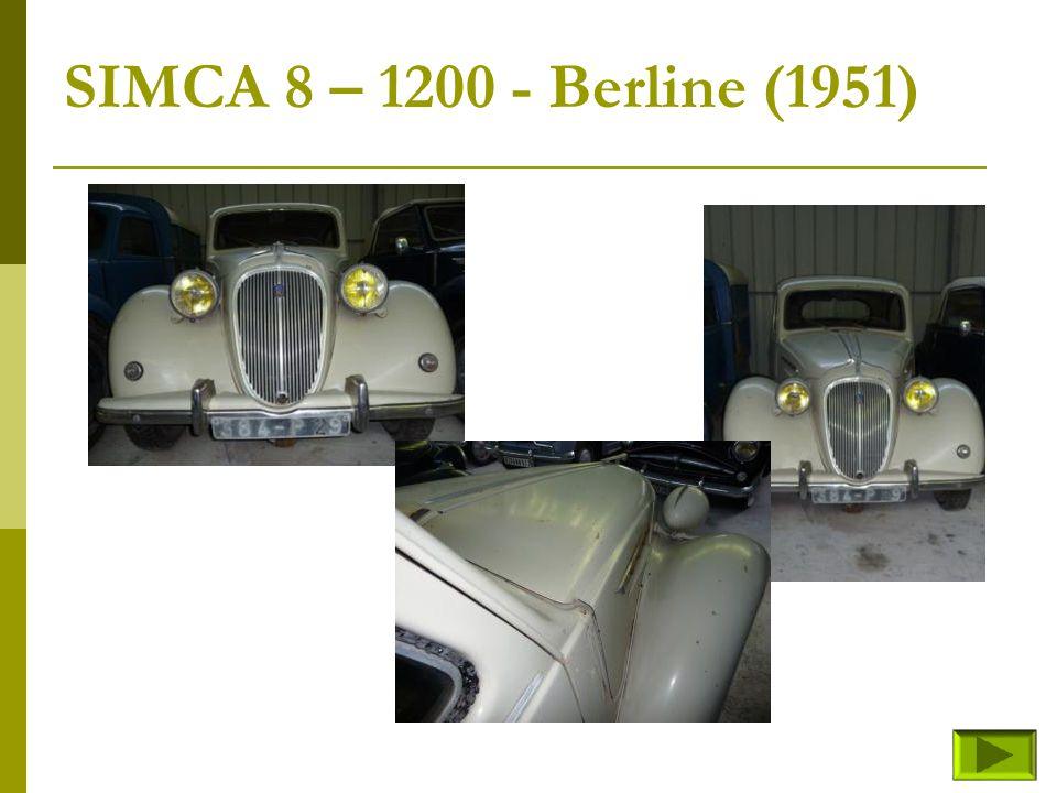 SIMCA 8 – 1200 - Berline (1951)